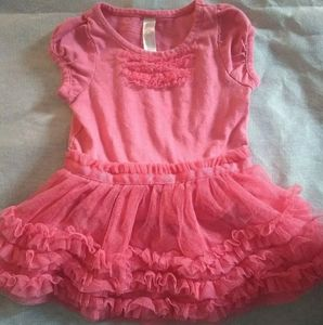 Girls Pink Ruffle Dress by Cherokee Size 12 Months